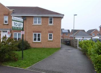 Thumbnail 3 bed town house to rent in Lincoln Way, Chesterfield, Derbyshire