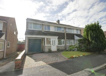 Thumbnail 4 bed semi-detached house for sale in Benfield Close, Shotley Bridge, Consett