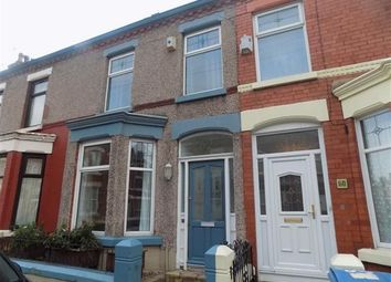 Thumbnail 3 bed terraced house to rent in Woodcroft Road, Wavertree, Liverpool