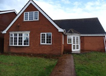 Thumbnail 4 bed detached bungalow to rent in Salters Road, Walsall Wood