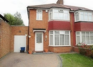 Thumbnail 3 bed semi-detached house to rent in Cheviot Gardens, Cricklewood, London