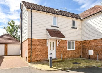 Thumbnail 3 bed semi-detached house for sale in Pinewood Drive, New Haw, Surrey