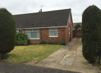 Thumbnail 2 bed semi-detached bungalow for sale in Homefield Avenue, Bradwell, Great Yarmouth
