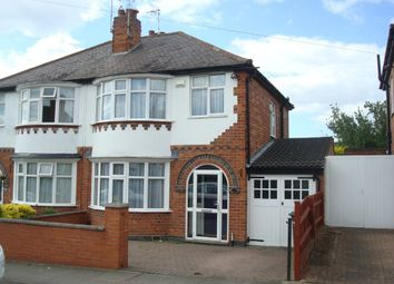 Thumbnail 3 bedroom semi-detached house for sale in Overdale Road, Knighton, Leicester