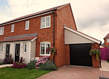 Thumbnail 3 bed semi-detached house for sale in Crome Drive, Hoveton, Norwich