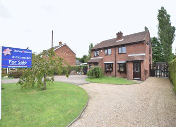 Thumbnail 2 bed semi-detached house for sale in Saxilby Road, Sturton By Stow, Lincoln