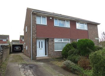 Thumbnail 3 bed semi-detached house for sale in Lucas Close, Barry