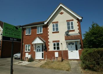 Thumbnail 2 bed terraced house to rent in Park Wood Close, Kingsnorth, Ashford