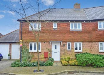 Thumbnail 3 bed semi-detached house for sale in Melba Close, Kings Hill, West Malling, Kent