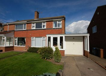 Thumbnail 3 bed semi-detached house to rent in Ladywell Way, Ponteland, Newcastle Upon Tyne