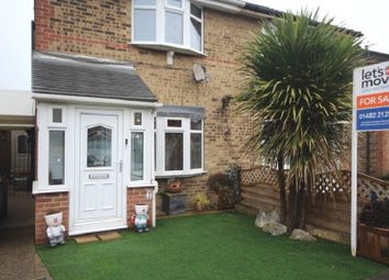 Thumbnail 2 bed semi-detached house for sale in Brackley Close, Hull