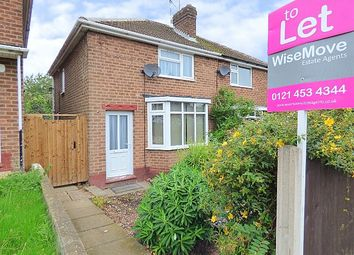 Thumbnail 2 bed terraced house to rent in Wolverton Road, Rednal
