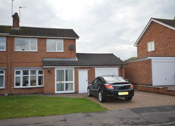 Thumbnail 3 bedroom semi-detached house to rent in Attfield Drive, Whetstone, Leicester