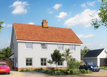 Thumbnail 3 bedroom semi-detached house for sale in Mill Road, Badingham, Woodbridge
