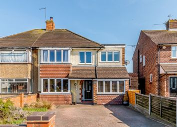 Thumbnail 4 bed semi-detached house for sale in King Georges Drive, New Haw, Addlestone