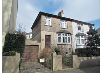 Thumbnail 3 bed semi-detached house for sale in Lanhydrock Road, Plymouth