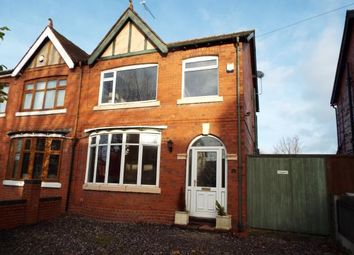 Thumbnail 3 bed semi-detached house for sale in Lunt Avenue, Crewe, Cheshire