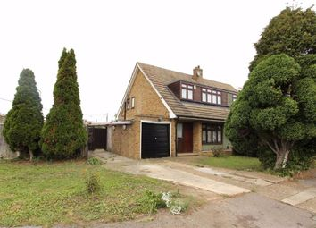 Thumbnail 3 bed semi-detached house to rent in Abbots Close, Rainham, Essex