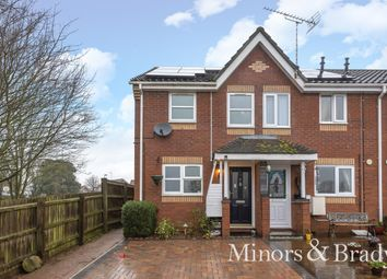 Thumbnail 2 bed end terrace house for sale in Wooll Drive, North Walsham