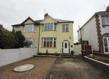 Thumbnail 3 bed semi-detached house for sale in Sapcote Road, Burbage, Hinckley