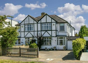 Thumbnail 3 bed semi-detached house for sale in Ravensfield Gardens, Stoneleigh, Surrey