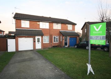Thumbnail 3 bed semi-detached house to rent in Allendale Road, Meadowfield, Durham