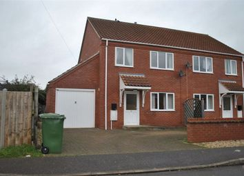 Thumbnail 3 bedroom semi-detached house to rent in Priory Road, North Wootton, King's Lynn