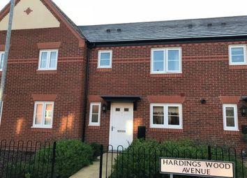 Thumbnail 3 bedroom terraced house to rent in Hardings Wood Avenue, Sandbach