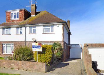 Thumbnail 3 bed semi-detached house for sale in Belloc Road, Wick, Littlehampton