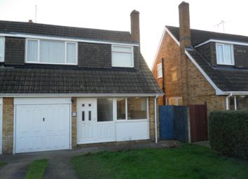 Thumbnail 3 bed semi-detached house to rent in Woodhurst Road, Stanground, Peterborough