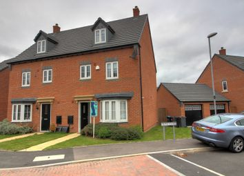 Thumbnail 4 bed semi-detached house for sale in Plum Crescent, Burbage, Hinckley