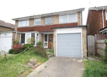 Thumbnail 3 bed semi-detached house for sale in Christine Close, Bexhill-On-Sea