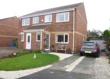 Thumbnail 3 bed semi-detached house for sale in Carrington Close, Seghill, Cramlington