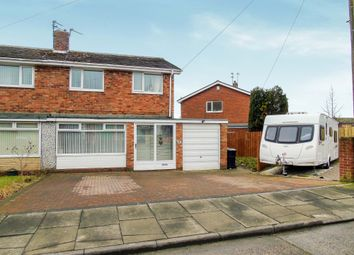 Thumbnail 3 bed semi-detached house for sale in Horsley Close, Choppington