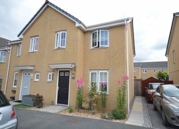 Thumbnail 3 bed end terrace house to rent in Heol Bryncethin, Sarn, Bridgend