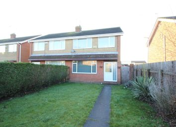 Thumbnail 3 bedroom semi-detached house to rent in Jendale, Sutton-On-Hull, Hull