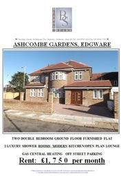 Thumbnail 2 bed flat to rent in Ashcombe Gardens, Edgware