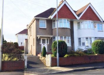 Thumbnail 3 bed semi-detached house for sale in Harlech Crescent, Swansea