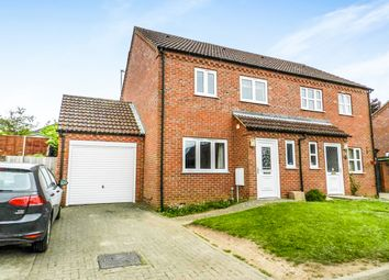 Thumbnail 4 bedroom semi-detached house for sale in Olivia Close, Fakenham