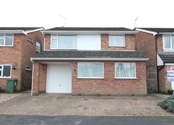 Thumbnail 4 bed detached house for sale in Calver Crescent, Sapcote, Leicester