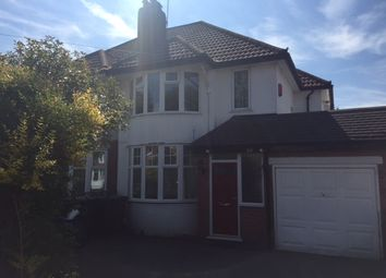 Thumbnail 3 bed semi-detached house to rent in Jacey Road, Shirley, Solihull, West Midlands