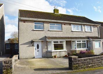Thumbnail 3 bed semi-detached house for sale in Heol Yr Ysgol, Bridgend, Bridgend County.