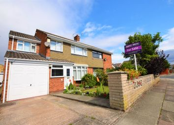 Thumbnail 4 bed semi-detached house for sale in Calveley Close, Prenton