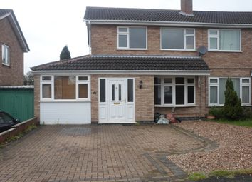 Thumbnail 3 bed semi-detached house to rent in Windrush Drive, Oadby