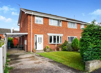 Thumbnail 3 bed semi-detached house for sale in Troon Court, Retford