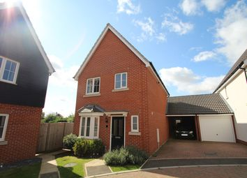 Thumbnail 3 bedroom detached house for sale in Crossbill Road, Stowmarket