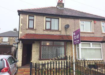 Thumbnail 3 bed semi-detached house to rent in Ridgeway, Shipley, Wrose