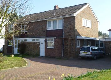 Thumbnail 3 bed semi-detached house for sale in Northey Avenue, Cheam, Surrey