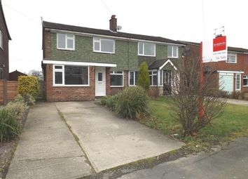 Thumbnail 3 bed semi-detached house for sale in Penrhyn Crescent, Hazel Grove, Stockport, Cheshire