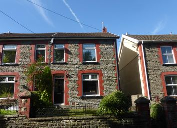 Thumbnail 3 bed terraced house to rent in Cadwgan Terrace, Trehafod, Pontypridd